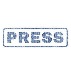 Press textile stamp vector