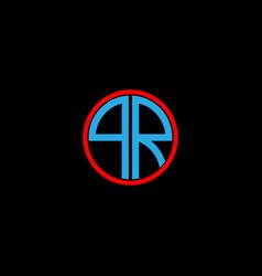 Q r letter logo creative design on black color vector