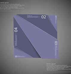Rectangle infographic template divided to five vector