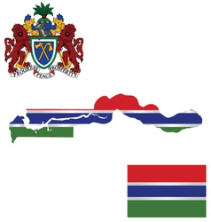 Republic of the Gambia Flag vector