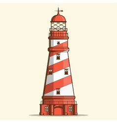 Retro lighthouse vector image