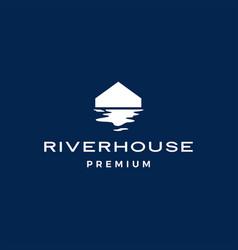 river house logo icon vector image