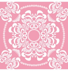 seamless floral pink vector image