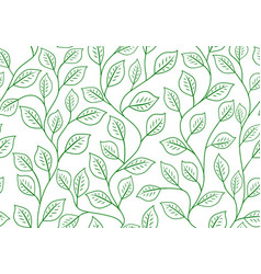 Seamless linear pattern floral ornament vector