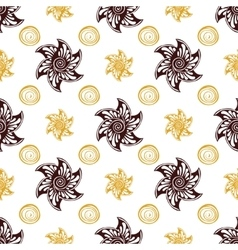 Seamless pattern rich dear background vector