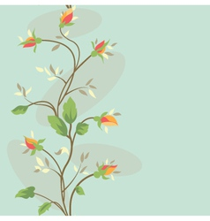Seamless vintage flower border pattern vector
