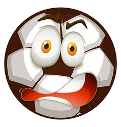 Shocking face on football vector