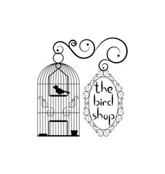 Signboard of bird shop vector