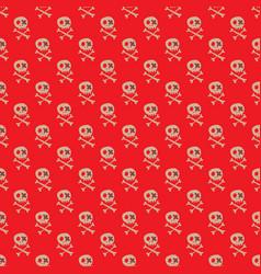 skulls and bones seamless pattern cute doodles vector image