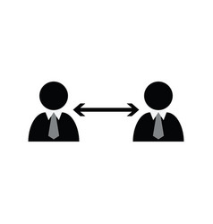 social distancing icon keep distance stop vector image