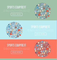 Sport equipment concept in circle vector