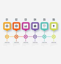 square infographic with 5 options vector image