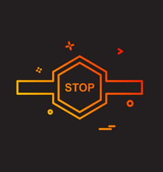 stop barrier icon design vector image