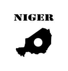 Symbol of isle of niger and map vector