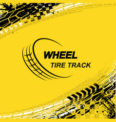 wheel tire track yellow background vector image