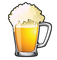draught beer vector image