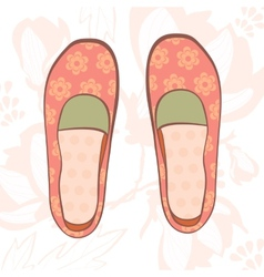 Girly shoes vector image vector image