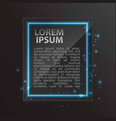 neon frame with space for text vector image