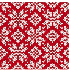 Nordic knitted seamless pattern vector