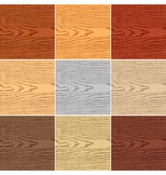 Set color wood texture vector