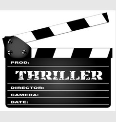 thriller clapperboard vector image