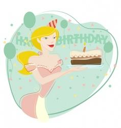 woman celebrating birthday vector image