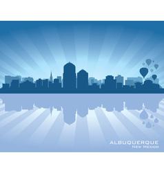 Albuquerque New Mexico skyline vector image vector image