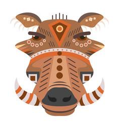boar head logo decorative emblem vector image