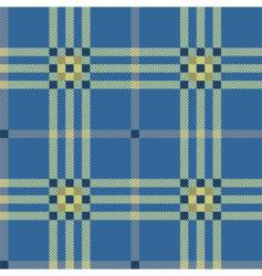 classic blue tartan vector image vector image