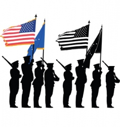 honor guard vector image vector image