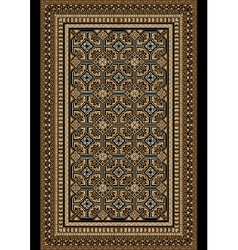 Old oriental rug with beige and brown shades vector image