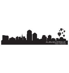 Albuquerque New Mexico skyline Detailed silhouette vector image vector image