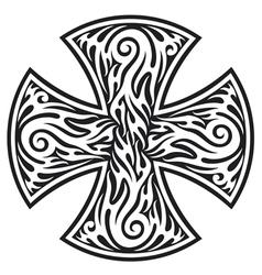 Cross tribal tattoo vector
