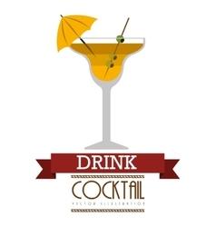 fresh cocktail design vector image