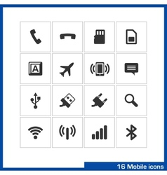 Mobile icon set vector