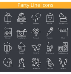 Party Icons vector image