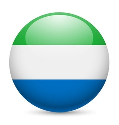 Round glossy icon of sierra leone vector image