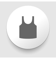 Singlet sleeveless shirt icon vector image
