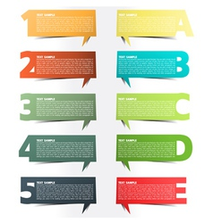 Colorful presentations with letters and numbers vector image