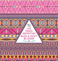 Hipster seamless tribal pattern vector image vector image