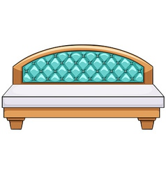 Luxury bed vector image vector image