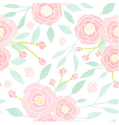 pastel peony background vector image