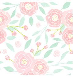 pastel peony background vector image