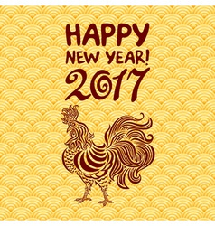 2017 New Year with chinese symbol of rooster The vector