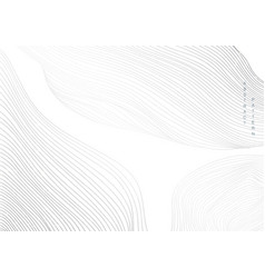 Abstract background with white and grey line vector