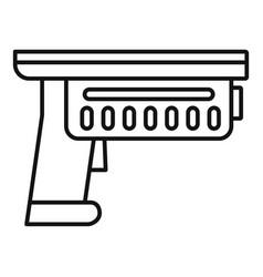 Alien blaster icon outline style vector