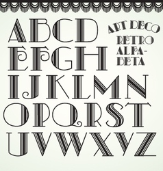 art deco alphabet vector image