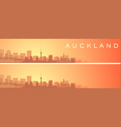auckland beautiful skyline scenery banner vector image