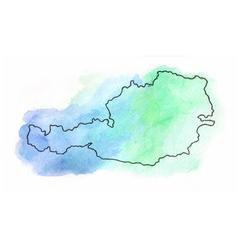 Austria watercolor map vector image