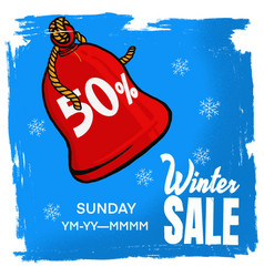 Banner winter sale vector